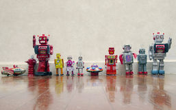 Robot team Stock Images