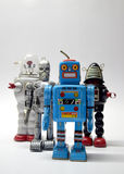 Robot team vintage toy close up Stock Images