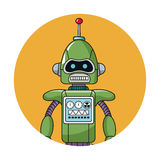 Robot technology circle icon Stock Photos