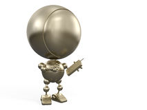 Robot with telephone Stock Photography