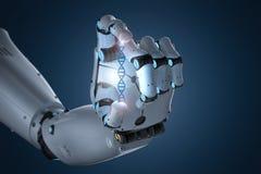 Robot tenant l'hélice d'ADN illustration stock