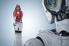 Robot tenant le coeur illustration stock