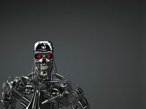 Robot terminator Royalty Free Stock Photo