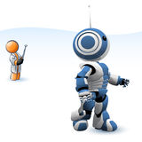 Robot Test Royalty Free Stock Photo
