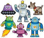 Robot theme collection 1 Royalty Free Stock Image