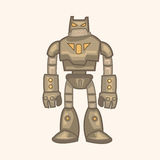 Robot theme elements vector,eps Royalty Free Stock Photos