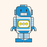 Robot theme elements vector,eps. Vector illustration file Royalty Free Stock Images