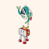 Robot theme elements vector,eps Stock Images
