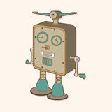 Robot theme elements vector,eps Stock Image