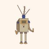 Robot theme elements vector,eps Stock Photos