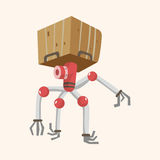 Robot theme elements vector,eps Royalty Free Stock Image