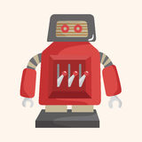 Robot theme elements vector,eps. Vector illustration file Royalty Free Stock Image
