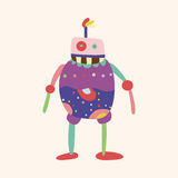 Robot theme elements vector,eps. Vector illustration file Royalty Free Stock Photo