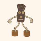 Robot theme elements vector,eps. Vector illustration file Royalty Free Stock Photos