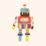 Robot theme elements vector,eps Royalty Free Stock Photo