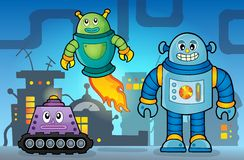 Robot theme image 5 Royalty Free Stock Image