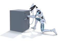 Robot Thief Royalty Free Stock Photos