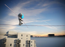 Robot Tightrope walker Stock Photography