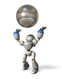 Robot to catch a ball Stock Photo