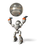 Robot to catch a ball Royalty Free Stock Photo