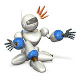 Robot to extend the hand. Computer generated image Stock Images