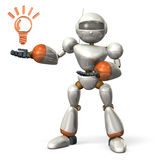 Robot to introduce something Stock Images