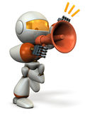 Robot to protest with a loudspeaker. Royalty Free Stock Image