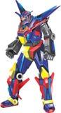 Robot a todo color stock de ilustración