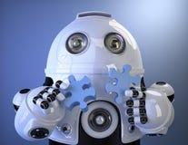 Robot toetredend raadsel Bevat het knippen weg stock illustratie