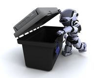 Robot with tool box. 3D render of a robot with tool box vector illustration