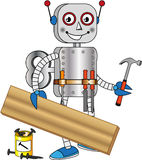 Robot with tools for working wood Royalty Free Stock Photo