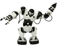 Robot Toy. Black and White robot Can dance and sing stock photography