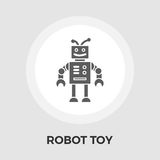 Robot toy vector flat icon Royalty Free Stock Photo