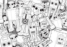 Robot Toys Background Stock Photo
