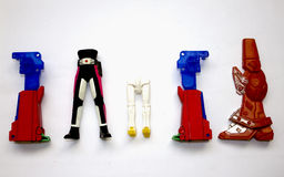 Robot toys. Legs of robot toys, toy is out of order Stock Photography