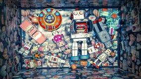 Robot toys stock video