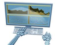 Robot trader Stock Image