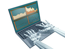 Robot trading Stock Images