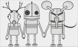 Robot tre fotografie stock