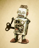 Robot triste Photos stock