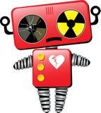 Robot triste avec le coeur cassé Images stock