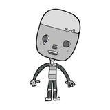 robot triste de bande dessinée Images stock