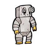 robot triste de bande dessinée petit Photos stock