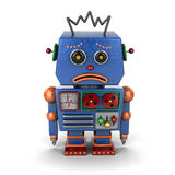 Robot triste de vintage Photo stock