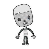 robot triste del fumetto comico Fotografie Stock Libere da Diritti