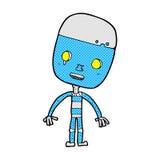 robot triste del fumetto comico Immagine Stock