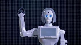 Robot tropi osoby i wita zdjęcie wideo