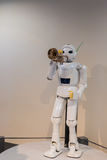 Robot trumpet performance is one of featured exhibition in Toyot Stock Photo