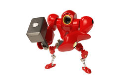 Robot trzyma młot Zdjęcie Royalty Free