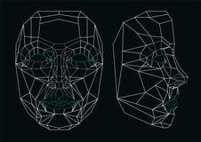 Robot twarz Zdjęcie Stock